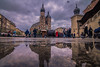 Perspective (Vagelis Pikoulas) Tags: krakow poland travel reflection reflections perspective canon 6d tokina 1628mm view landscape city cityscape rain water old town november autumn 2017 church