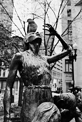 R6-052-24A (David Swift Photography) Tags: davidswiftphotography boston massachusetts publicart sculpture irishfaminememorial 35mm pigeons nikonfm2 ilfordxp2