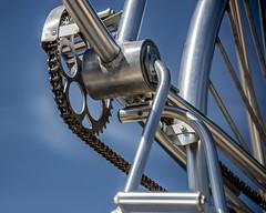 Bike Sculpture Wildwood Crest New Jersey (Daveyal_photostream) Tags: bike bicycle detail nikon nikor photoshop lightroom sharp hdr hdrphotography hdredit hdrphoto hdrphotoraph meandmygear mygearandme mycamerabag chain d600 bluesky aluminum wildwoodcrest newjersey beach sopkes worldofdetails welds pedal bokeh