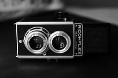 Ricohflex Holiday (rolandmks7) Tags: sonynex5n monochrome blackwhite ricoh ricohflex 120 camera contrast highcontrast holiday tlr