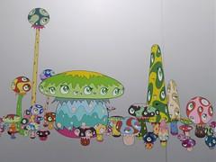 "Chicago, Museum of Contemporary Art (MCA), Takashi Murakami Exhibit, The Octopus Eats Its Own Leg, ""Mushroom"" Confab (Mary Warren 9.6+ Million Views) Tags: chicago museumofcontemporaryart mca art takashimurakami theoctopuseatsitsownleg eyes mushrooms"