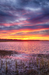 Pink November (Kansas Poetry (Patrick)) Tags: sunset pink wetlands bakerwetlands wakarusawetlands lawrencekansas reflections