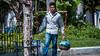 2017 - Mexico - Comala - Tuba Vendor (Ted's photos - For Me & You) Tags: 2017 comala cropped mexico nikon nikond750 nikonfx tedmcgrath tedsphotos tedsphotosmexico vignetting tuba tubavendor yoke ropes bucket pail male man comalaplazaprincipal denim denimjeans