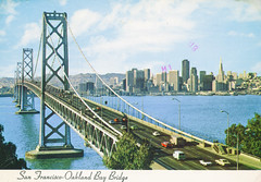 San Francisco-Oakland Bay Bridge (Thomas Hawk) Tags: america baybridge california sanfrancisco sanfranciscooaklandbaybridge transamerica transamericabuilding usa unitedstates unitedstatesofamerica vintage bridge postcard fav10 fav25 fav50