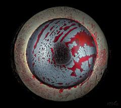 Red ballpoint pen (robert.vierthaler) Tags: macrophotography olympus omd em1 microscope nikon ballpoint pen bellows m42