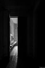 Evacuación (Eugercios) Tags: toilette wc light luz baño door puerta bw bnw white black blanco negro branco preto toilet aseo porta museo bellas arte
