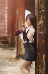 Portraits of Yvaine Dazzling as Tifa Lockhart, by SpirosK photography (SpirosK photography) Tags: portrait finalfantasyseries finalfantasy cosplay costumeplay game videogame videogamecharacter tifa tifalockhart yvainedazzling yvaine evadazzling strobist d750 drapetsona greece abandoned factory εγκαταλελειμμένο δραπετσώνα ελλάδα