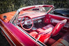 It's All About The Details (13skies) Tags: interior cool red detail classic cars car upholstery steeringwheel bucketseats classy topdown ragtop antique 1960s flashy speed wind convertible cruise style sonya57 bright clean leather comfortable