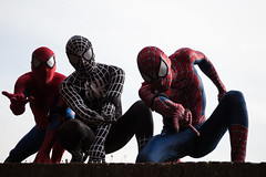 Spider-Men (Christian Ferrari) Tags: cosplay people portrait lucca comics travel light shadow spider men sky