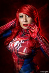 Oh My... (Ring of Fire Hot Sauce 1) Tags: cosplay maryjanewatson erickamorales pinup redhead spiderman sandiegocomiccon sdcc portrait glamour
