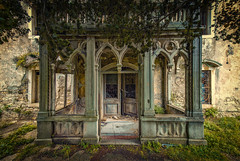the balcony (klickertrigger) Tags: decay lost place abandoned balcony old house nature architecture ancient urbex urban exploration stefan dietze