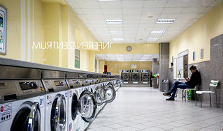 Waiting for the laundry