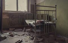 Sweet Dreams (sj9966) Tags: kopachi kindergarten nuclear fallout sleep sovietunion nursery bed frame radiation radioactive evacuated ussr abandoned derelict decay decaying forgotten ukraine pripyat chernobyl sj9966 2014