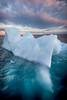 Above and Below (Visual Lyrics Photography - Ernie Vater) Tags: iceberg greenland below ice midnightsun underneath clouds ilulissat qaasuitsupkommune gl