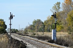 Milepost 173 on the Iowa Northern Rwy. stands silent sentinels of the past (mp 126) Tags: ianr iowa shortline