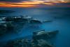 Eight Minute Twilight Simmer (tltichy) Tags: lajolla blue coast cove longexposure ocean orange pacific reef rocks rocky sandiego sandstone sea seascape sunset tidepools