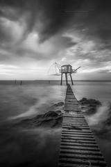 La cabane de Tharon-plage -44- (Explore 15/11/2017) (f.ray35) Tags: blackandwhite noiretblanc nd1000 romuald effray canon contraste clouds monochrome loireatlantique 44 france pêcherie
