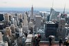 Top-of-the-rock-view-NYC (EYMSRH57XZKXFYEDWMAYYDFVQK) Tags: own totr topoftherock rockefellercenter rockeffeler midtownmanhattan midtown day observatory view people couple empirestate skyline photo luise