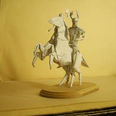 Odin and Sleipnir Origami (Marcos Origami) Tags: origami norse mythology odin wotan viking magic myths human figure sleipnir sculpt warrior
