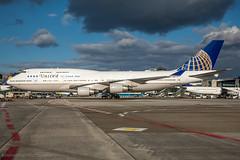 N121UA - Boeing 747-422 - United Airlines (Bjoern Schmitt) Tags: united frankfurt 747 747400 744 boeing ramp special fra eddf airplane