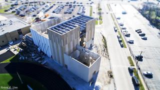 Oak Lawn Hugh School OLHS - Performing Arts Center Construction - Fake Tilt Shift