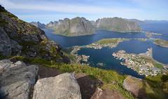 Reinebringen in Norway (Fjordblick) Tags: norway lofoten reine landscape nature artic northernnorway water mountains sky norwegen skandinavien scandinavia rock reinebringeninnorway reinebringen