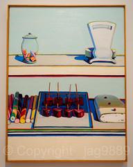 Wayne Thiebaud, Candy Counter 1969 Painting (jag9889) Tags: 2017 20170609 aaal americanacademyofartsandletters art artwork audubonterrace candy exhibit exhibition frame indoor manhattan ny nyc newyork newyorkcity painting usa unitedstates unitedstatesofamerica uppermanhattan wahi washingtonheights jag9889