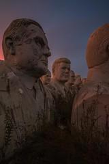 Rest in Peace (rantropolis) Tags: urbex abandoned urbanexploration abandonedpark president head presidents heads statues sunrise