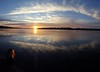 Mother Nature's eye (David Sebben) Tags: sunset mother nature eye mississippi river reflection clouds illusion