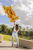 Balloons_04 (fabianamsolano) Tags: gold cute model balloons flying floating beautiful sky blue fun happy jumo bright