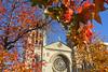 Red autumn (planosdeluz) Tags: autumn beautiful gijon red orange church san lorenzo tamron 1750mm canon 60d leaves