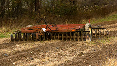 Disc harrow. IMG_1359 (A.Finchphotography) Tags: farming agriculturalequipment tool landscape rusty old forest ohio usa outside plowing fields dirt nature land