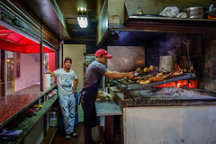 Ready for the Lunch Crowd (USpecks_Photography) Tags: street montevideo uruguay barbecue grill meat vendor candid mercado