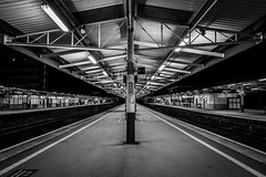 Plymouth Rail Station (Marklucylockett) Tags: 2017 canon7d devon marklucylockett night november plymouth rail station hdr england unitedkingdom gb
