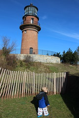 Checking out the lighthouse (quinn.anya) Tags: paul toddler lighthouse fence gayhead aquinnah marthasvineyard