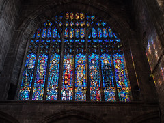 * Chester Cathedral: Stained Glass Window (velodenz) Tags: velodenz fujifilm x100f fujifilmx100f steam excursion england great britain gb united kingdom uk city town chester cheshire cathedral stained glass window blue views repostmyfuji repostmyfujifilm fuji 2000views 2000 interesting top twenty toptwenty 20