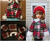 Coat Ornament Adjustments (Foxy Belle) Tags: tammy doll vintage ornament ideal red plaid winter fur trim sew michael michaels crafts makeover coat christmas craft project
