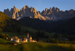 Last Light On Santa Maddalena
