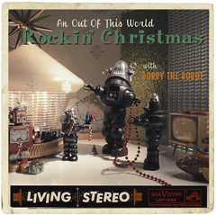 Robby's Christmas Album! (Michael Paul Smith) Tags: faux album cover art robby robot retro robots scale models diorama holiday christmas