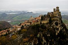 San Marino - Fortress Protecting the City - 11-30-12 (mosley.brian) Tags: sanmarino repubblicadisanmarino mostserenerepublicofsanmarino serenissimarepubblicadisanmarino montetitano guaita