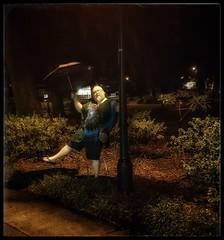 10/22/17 - Singing in the Rain @ Forsyth Park, Savannah, GA (CubMelodic23) Tags: october 2017 vacation trip savannah georgia savannahga parks squares park downtown hdr me dave selfportrait rain water night forsythpark goofy