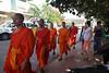 9- Day 6- Luang Prabang 3rd day- 064 (_gem_) Tags: travel luangprabang laos asia southeastasia rural countryside country people monk buddhist buddhism monks walking religion orange