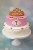 Fancy Princess Cake (toertlifee) Tags: törtlifee fancy princess prinzessin pink weiss krone crown tiara gold schleife bow