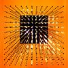 Burst (Arni J.M.) Tags: square lights burst led pendant 12x12x12 orange up victoriaandalbertmuseum va london england uk