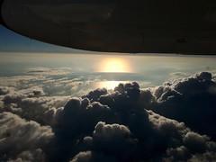Evening flight Auckland to Whangarei, New Zealand (scinta1) Tags: clouds dark vew nature cloudy plane sun sunset sunray high ominous northlandnz