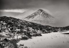Glamaig in white. (SkyeBaggie) Tags: glamaig hill snow varigal sligachan isleofskye scotland hebrides highland skye blackandwhite