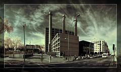 La Canadenca (Ar@lee) Tags: barcelona catalunya tresxemeneies parallel fotografíainfrarroja photographyinfrared fullspectrum ir nikond50 d50 airelibre bordeparafotos sky construccion edificio fabrica barcelonatraction frederickstarkpearson filtre680nm