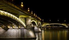 Margit Hid (zzra) Tags: budapest night dark foggy duna danube long exposure bridge architecture cityscape