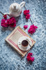 Tea and flower (color and spices) Tags: tea chai flower stilllife morning winter foodphotography foodstyling