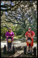 10/24/17 - Segway Plantation Tour in Hilton Head Island, SC (CubMelodic23) Tags: october 2017 vacation trip hdr hiltonheadisland southcarolina segway tour plantation trees liveoaks friend amy me dave selfportrait